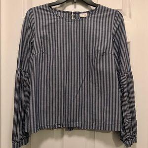Blue/white striped top